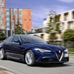 Alfa Romeo Giullia voorkant rijdend