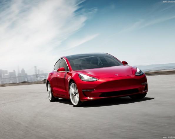 Tesla Model 3 leasen voorkant