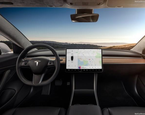 Tesla Model 3 leasen Stuur en boordcomputer van de tesla-model_3