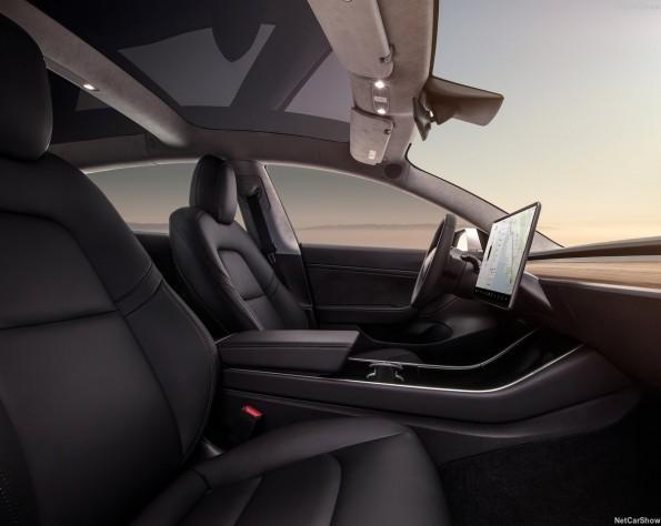 Tesla Model 3 leasen Zijaanzicht van de stoelen van de tesla-model_3