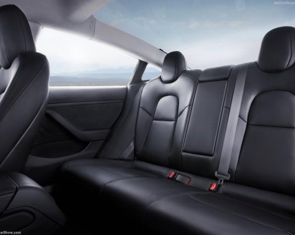 Achterbank Tesla Model 3 leasen
