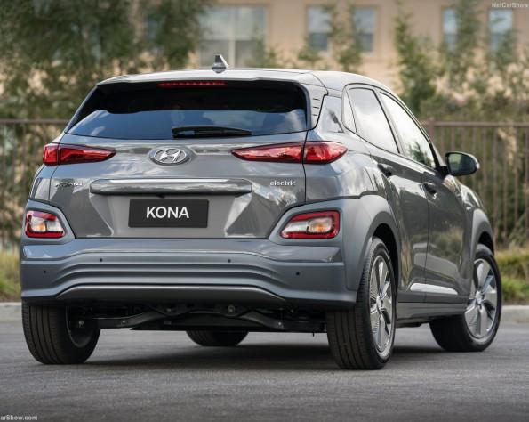 Hyundai Kona electric lease foto van de achterzijde