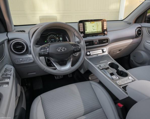 Hyundai Kona electric lease foto van het interieur