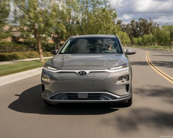 Hyundai Kona electric lease foto van de voorzijde