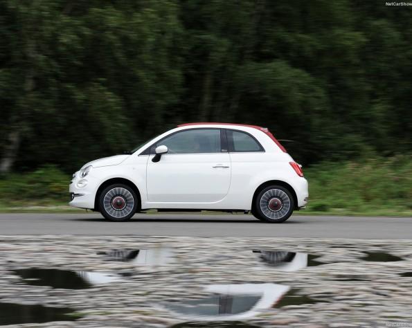 Fiat 500 schuin