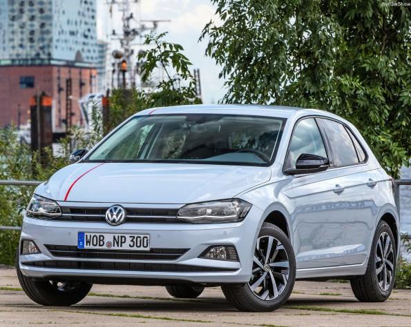 Volkswagen Polo voorkant schuin naar links