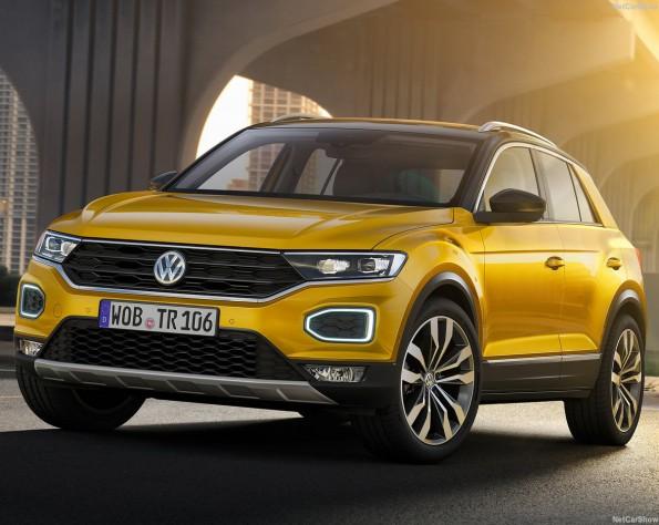 Volkswagen T-Roc schuin naar links