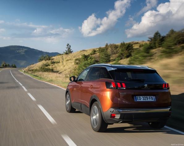Achterkant Peugeot 3008