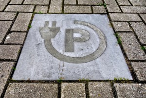 Elektrische auto parkeerplaats