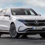 Vooraanzicht Mercedes EQC