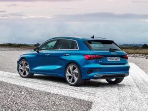 Audi A3 Sportback achterkant schuin