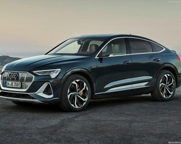 Audi e-tron Sportback lease voorkant rechts