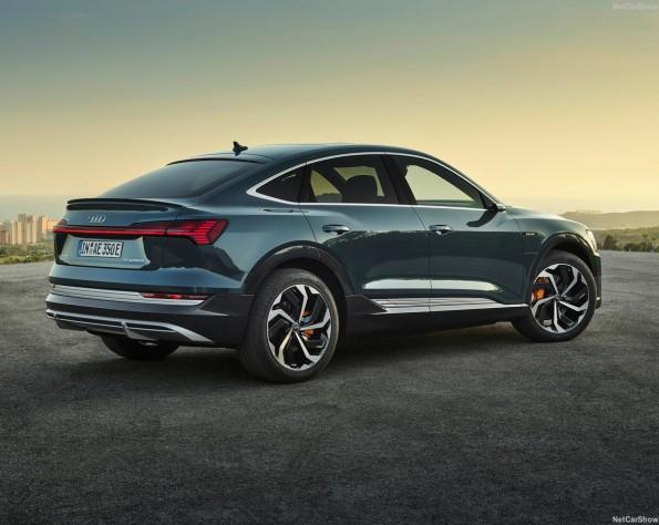 Audi e-tron Sportback lease achterkant schuin links