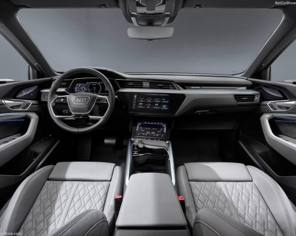 Audi e-tron Sportback lease interieur voor