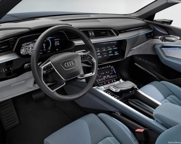 Audi e-tron Sportback lease stuurwiel