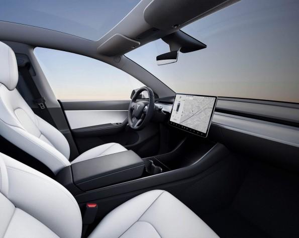 Tesla Model Y interieur voor