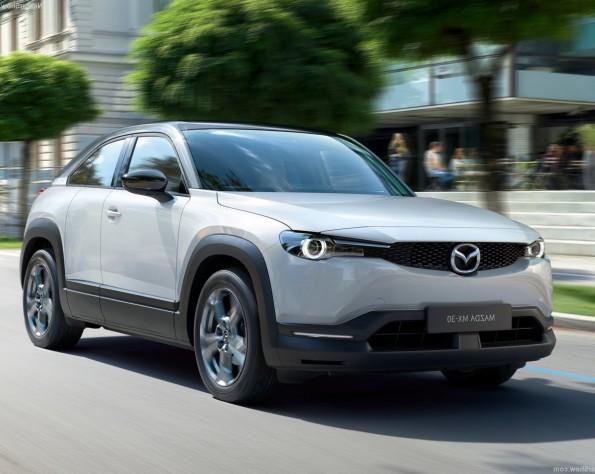 Mazda MX-30 lease voorkant schuin