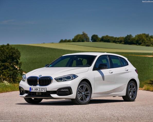 BMW 1-serie lease voorkant naar links
