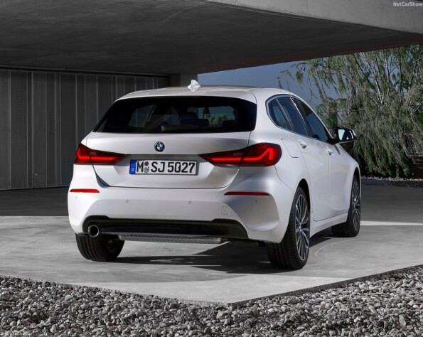 BMW 1-serie lease achterkant schuin