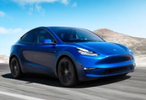 Nieuwe elektrische auto's Model Y