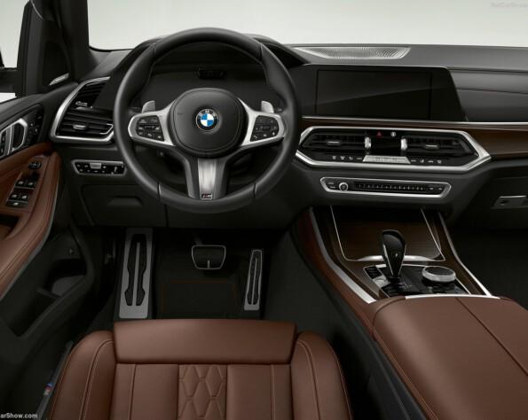 Interieur bruin berijder positie BMW X5