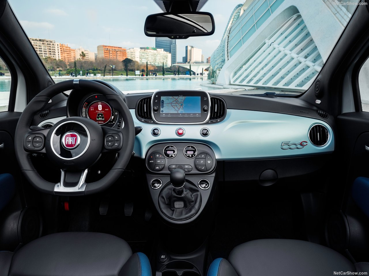Fiat 500 lease interieur