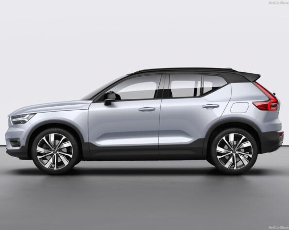 Volvo XC40 recharge lease zijkant links