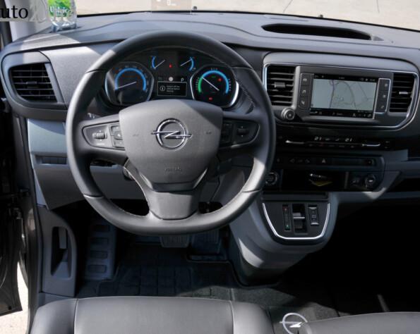 Opel Vivaro-e lease interieur