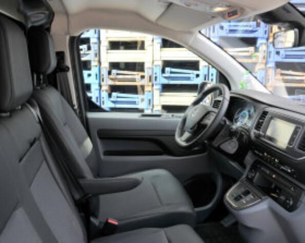 Opel Vivaro-e lease gehele interieur