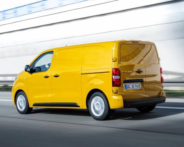 Opel Vivaro-e lease achterkant