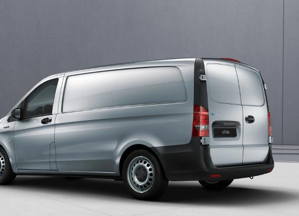Achterkant Mercedes-Benz eVito lease