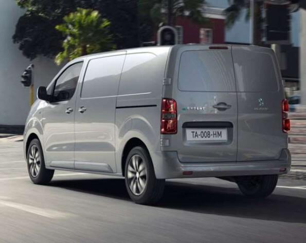 Linker achterkant van de Peugeot e-Expert lease