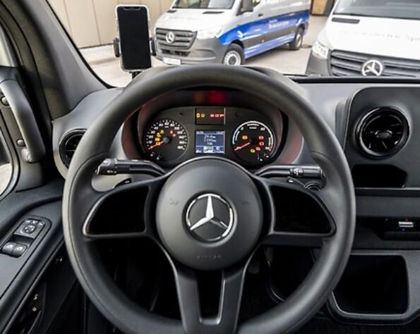 Interieur elektrische Mercedes-Benz eSprinter stuur