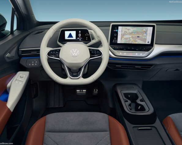 Interieus stuur en navigatie Volkswagen ID.4 lease