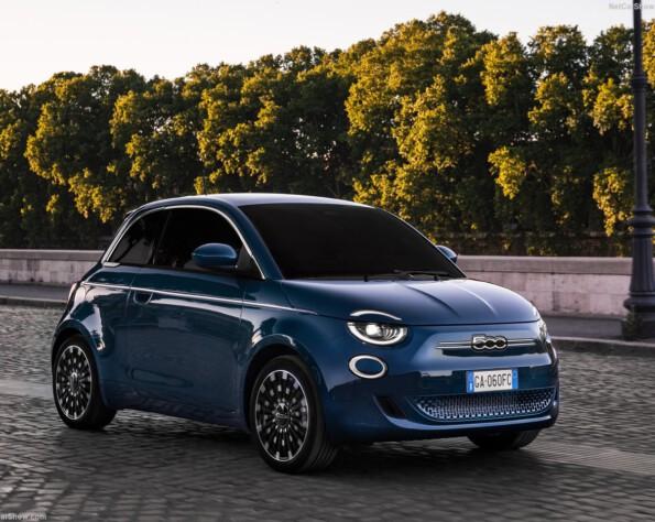Fiat 500e lease voorkant