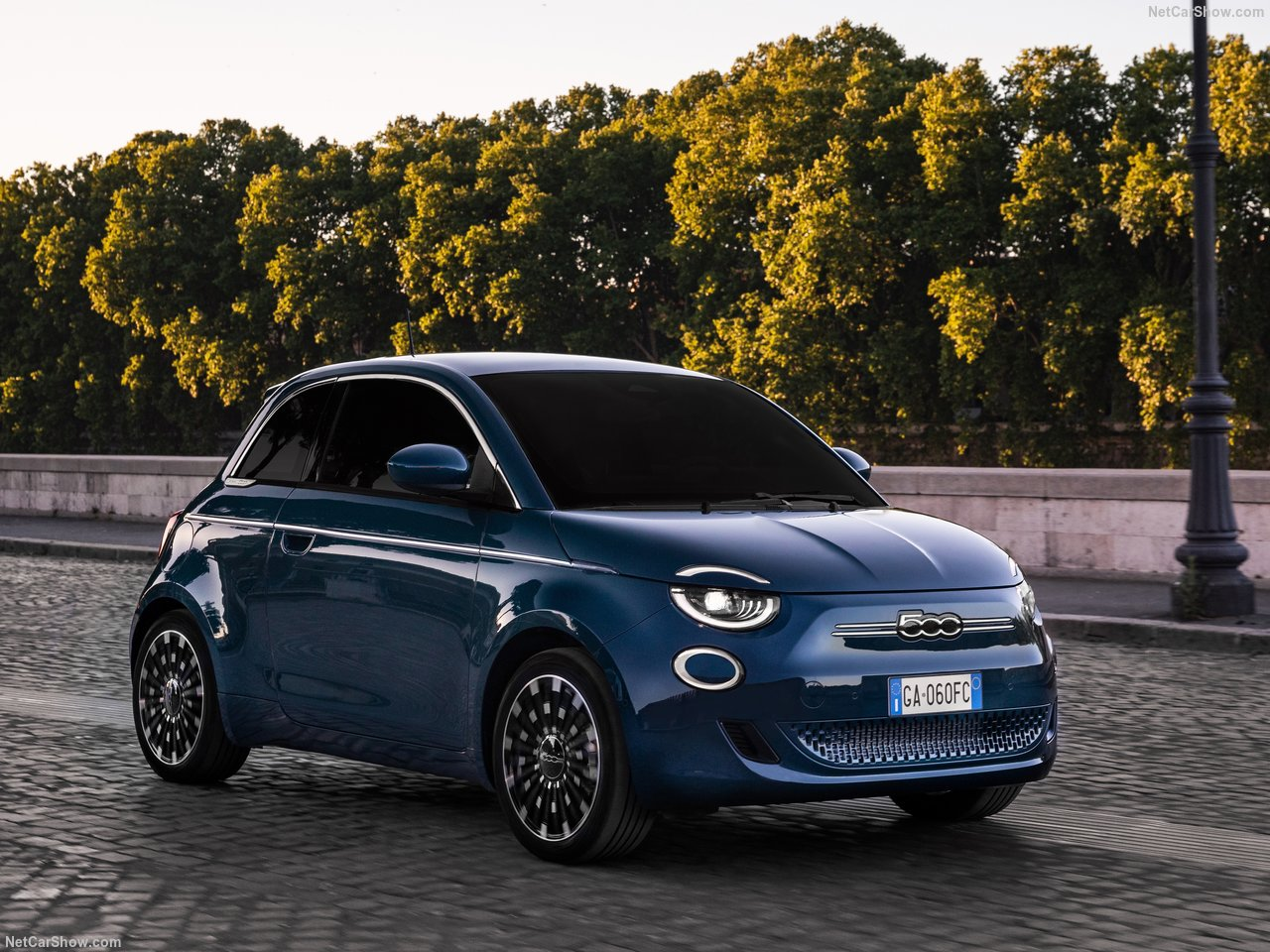 Fiat 500e lease voorkant