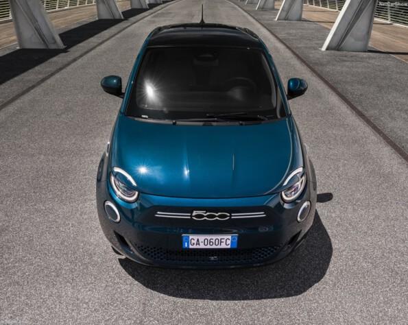 Fiat 500e lease voorkant recht