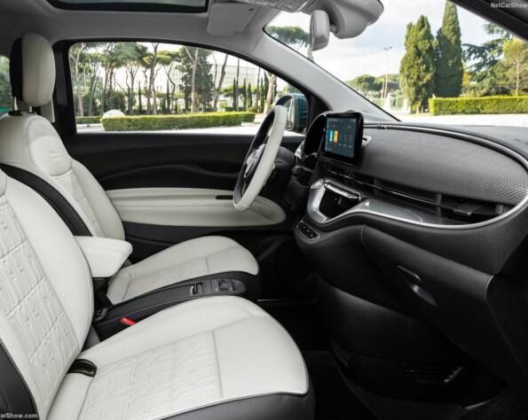 Fiat 500e lease interieur voor