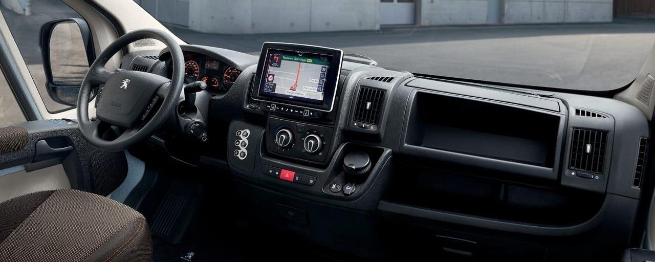 Interieur elektrische Peugeot e-Boxer