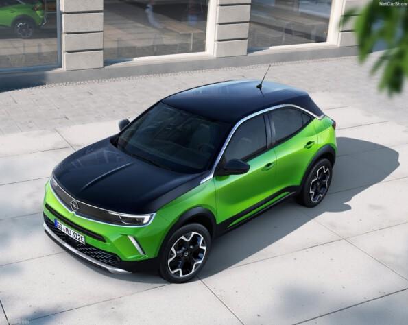 Opel Mokka-e lease bovenaanzicht