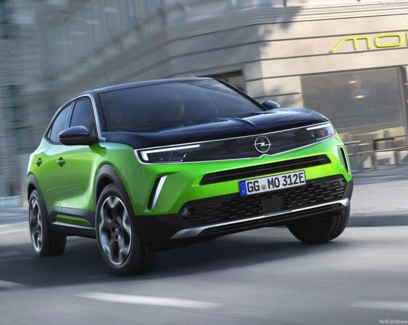 Opel Mokka-e lease voorkant schuin
