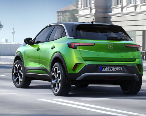 Opel Mokka-e lease achterkant schuin