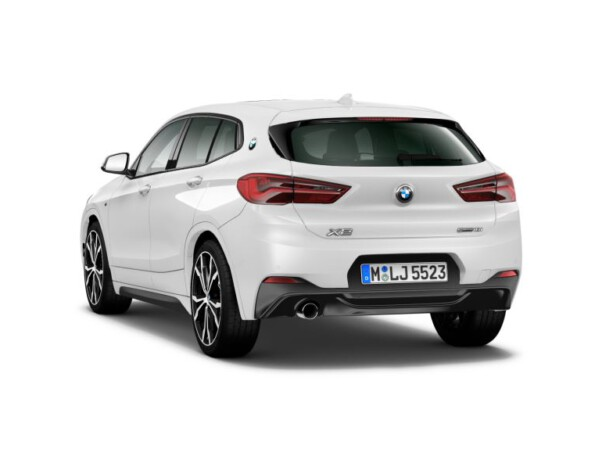 BMW X2 achterkant schuin
