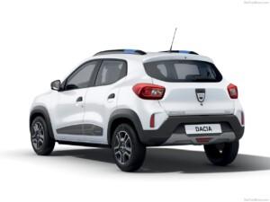 goedkoopste elektrische auto Dacia Spring achterkant