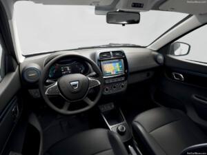 goedkoopste elektrische auto Dacia Spring interieur
