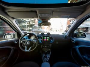 Smart Fourfour elektrische auto interieur
