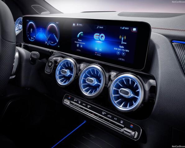 Mercedes EQA Lease infotainment