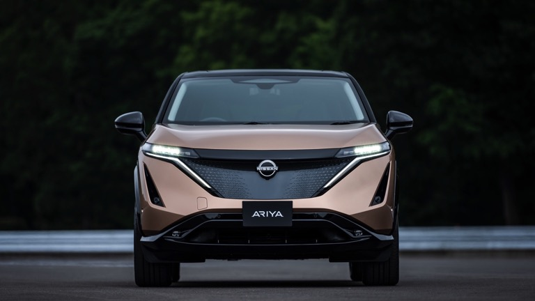 Voorkant Nissan Ariya