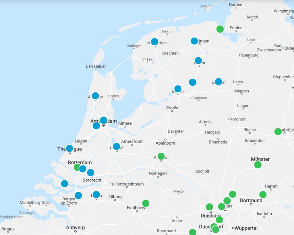Waterstofstation Nederland